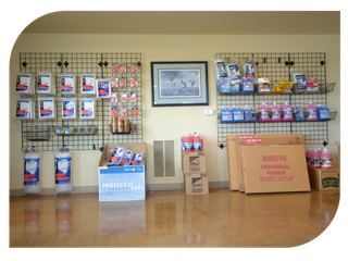 Moving boxes and packing supplies at North Plains RV and Self Storage